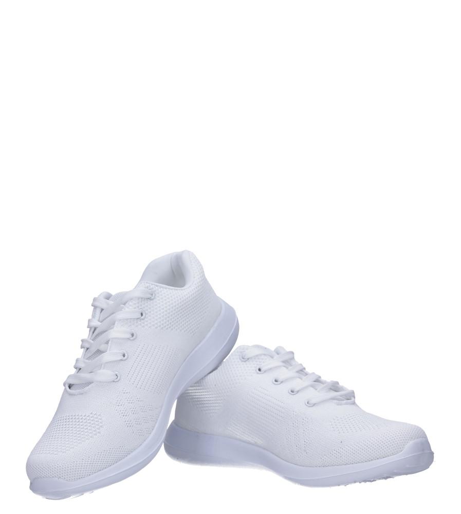 Białe buty sportowe sznurowane Casu F6-12 kolor biały