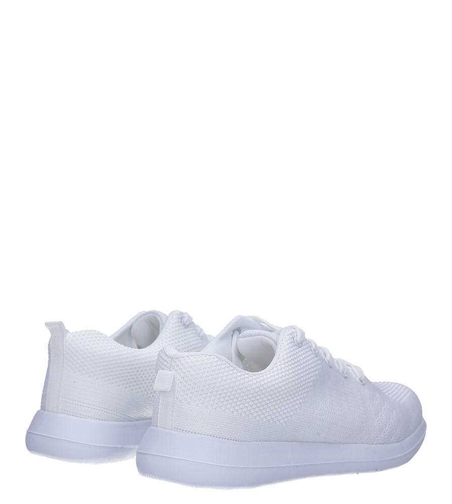 Białe buty sportowe sznurowane Casu F6-12 wysokosc_platformy 1.5 cm