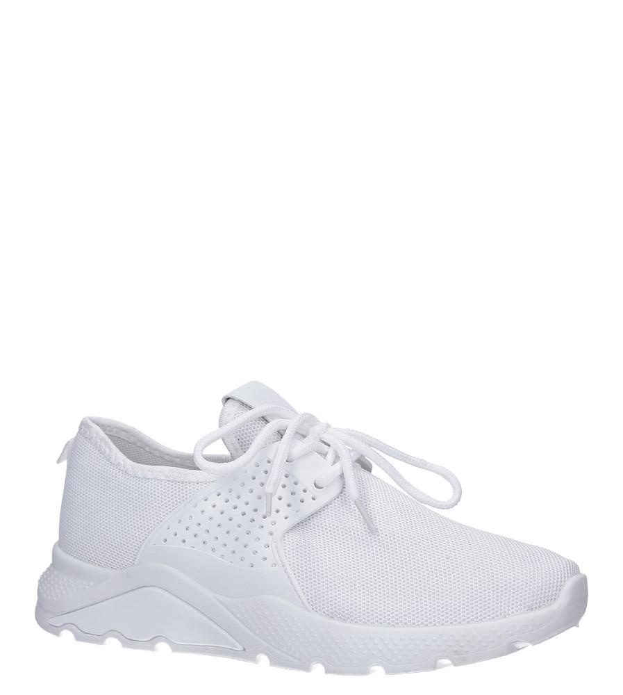 Białe buty sportowe sznurowane Casu HR61293