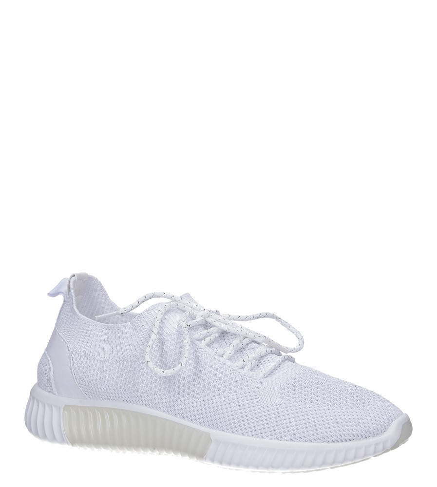 Białe buty sportowe sznurowane Casu HR61297 biały
