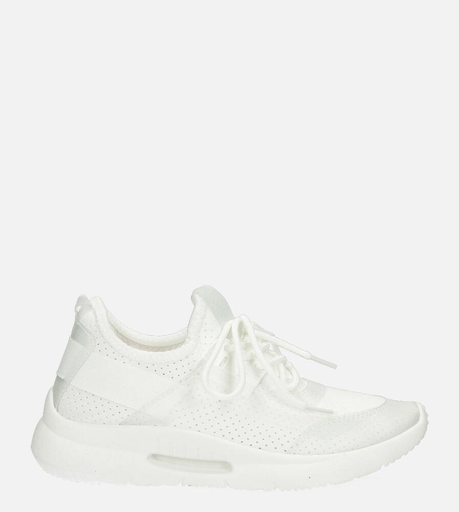 Białe buty sportowe sznurowane Casu US12001-2 biały