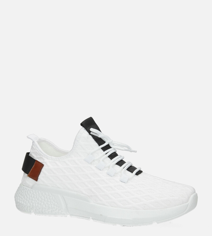 Białe buty sportowe sznurowane Casu YZ05-5 biały