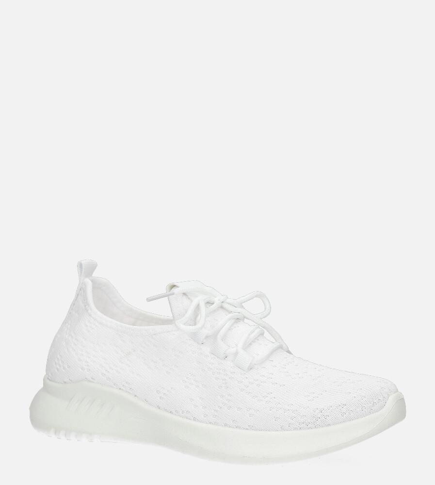 Białe buty sportowe sznurowane Casu YZ09-2 biały