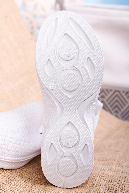 Białe buty sportowe wsuwane slip on Casu 11004-1 biały