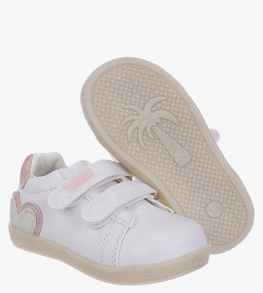 Białe buty sportowe ze skórzaną wkładką na rzep Casu P-292