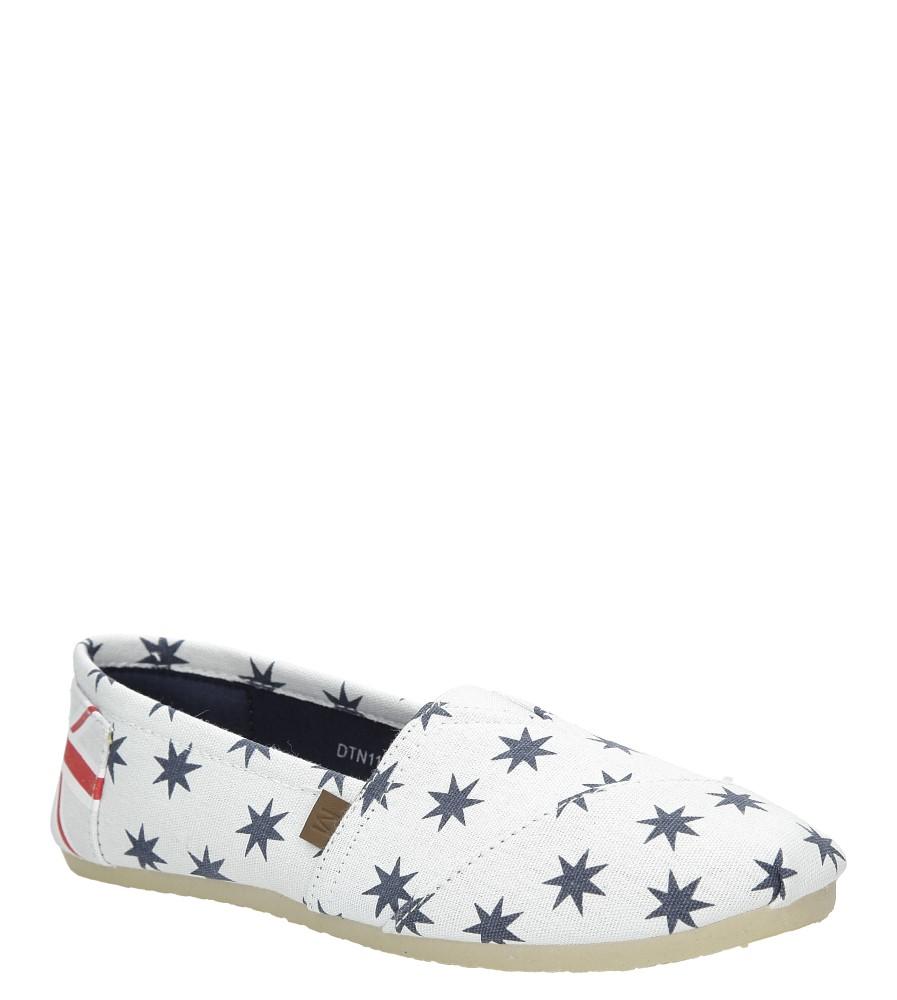 Białe buty tomsy z gwiazdkami Mckey DTN118/16WH