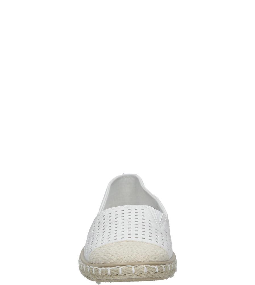 Białe espadryle slip on ażurowe Casu DD1802-2 style Ażurowy