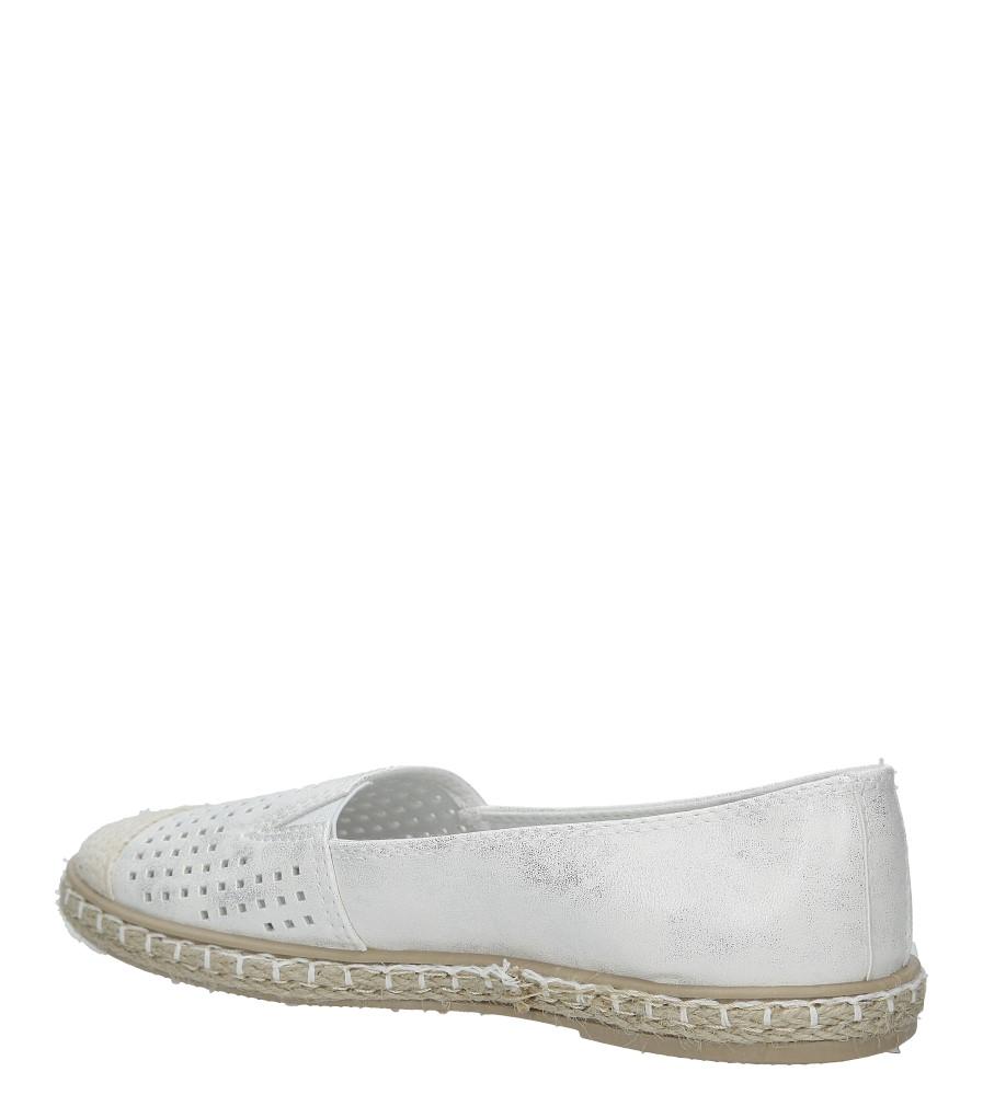 Białe espadryle slip on ażurowe Casu DD1802-2 kolor biały, srebrny