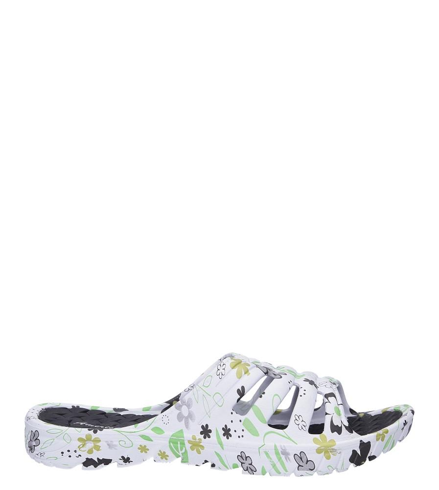Białe klapki basenowe w kwiatki American LU05/19