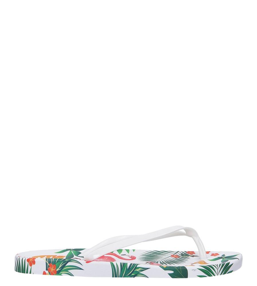 Białe klapki japonki basenowe z flamingami Casu A2168