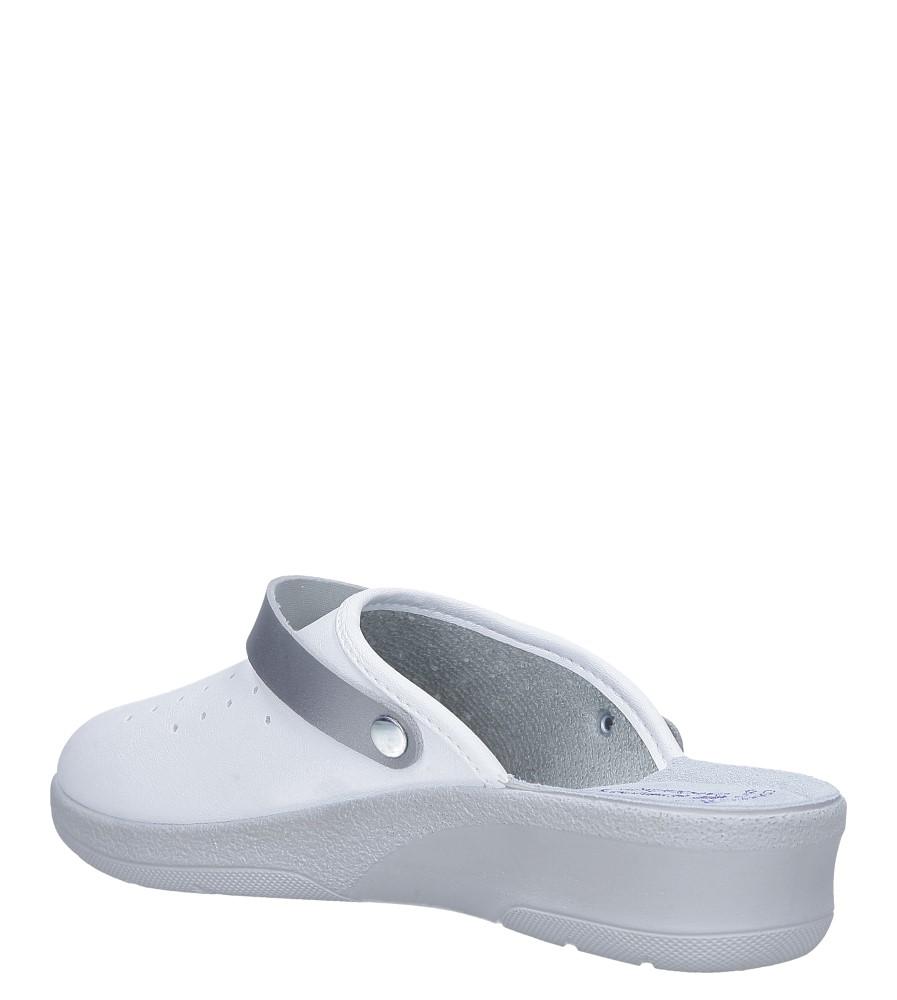 Białe klapki sanitarne medyczne Inblu 50000035 sezon Całoroczny
