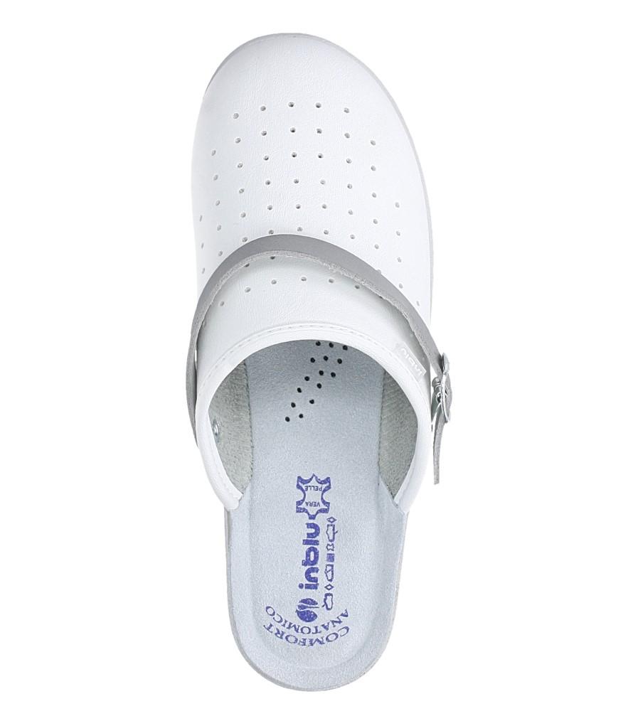 Białe klapki sanitarne medyczne Inblu 50000035 kolor biały