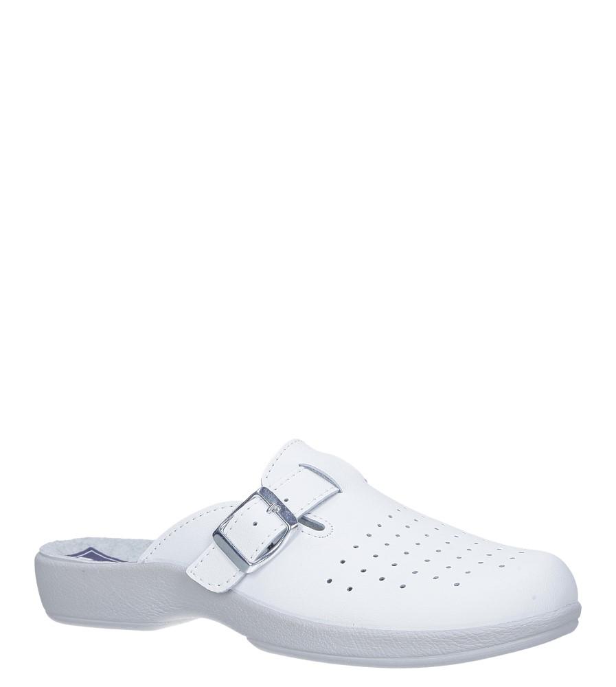 Białe klapki sanitarne medyczne z klamrą Inblu AE000002 biały