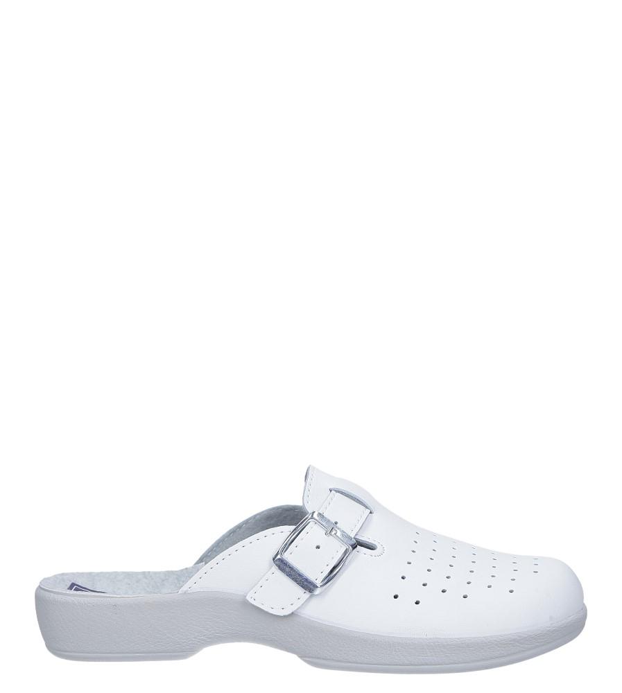 Białe klapki sanitarne medyczne z klamrą Inblu AE000002 model AE000002