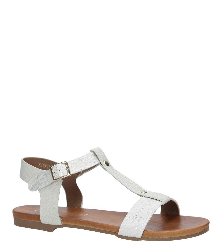Białe lekkie sandały damskie płaskie z paskiem przez środek Casu K18X1/W