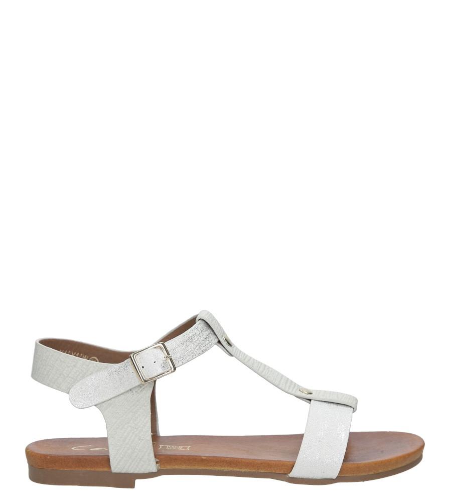 Białe lekkie sandały damskie płaskie z paskiem przez środek Casu K18X1/W sezon Lato