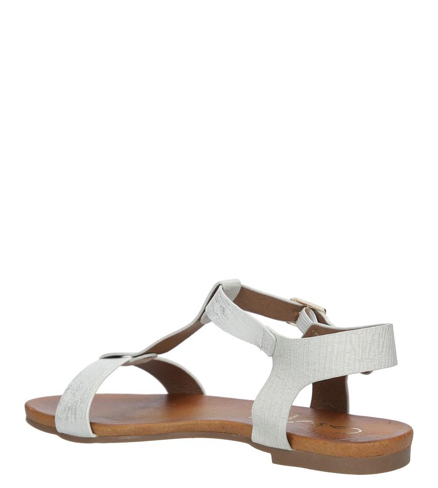 Białe lekkie sandały damskie płaskie z paskiem przez środek Casu K18X1/W wysokosc_obcasa 3.5 cm