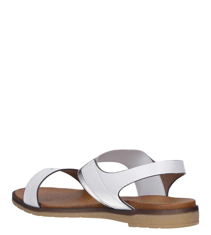 Białe lekkie sandały płaskie z błyszczącą gumką Casu K19X7/W wys_calkowita_buta 12 cm