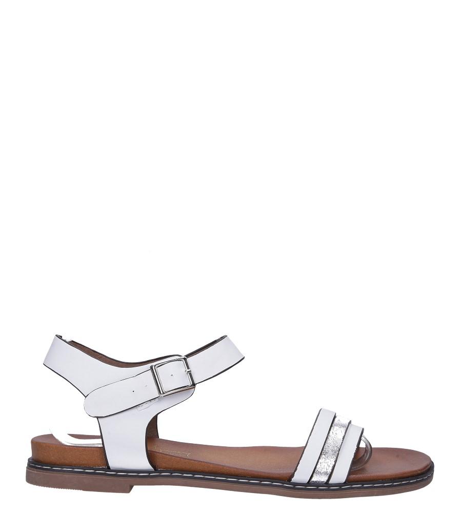 Białe lekkie sandały płaskie z błyszczącym paskiem Casu K19X13/W wysokosc_platformy 1.5 cm