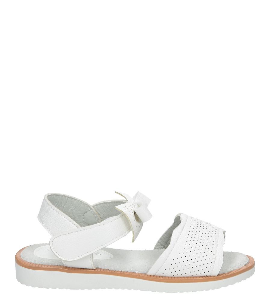 Białe sandały ażurowe z kokardą na rzep S.Barski 1195-A1 biały