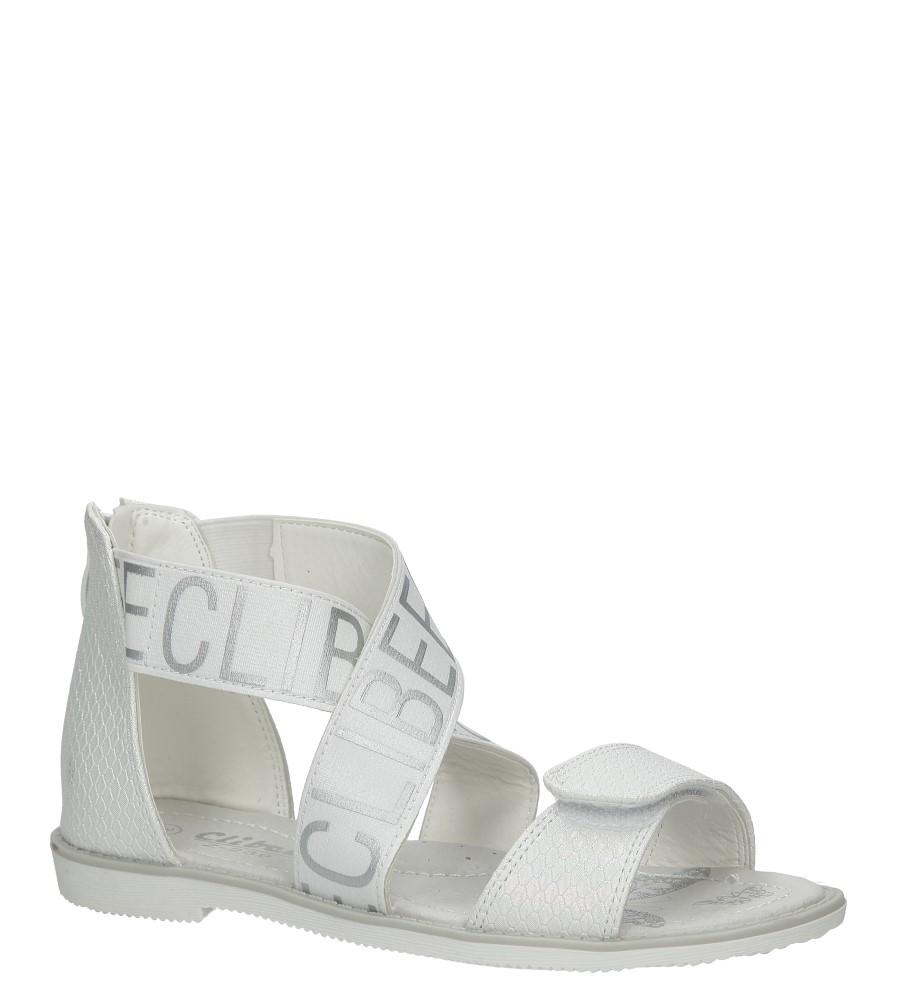 Białe sandały na rzep Casu Z-239 producent Casu