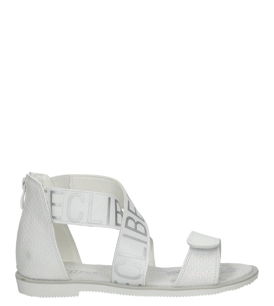 Białe sandały na rzep Casu Z-239