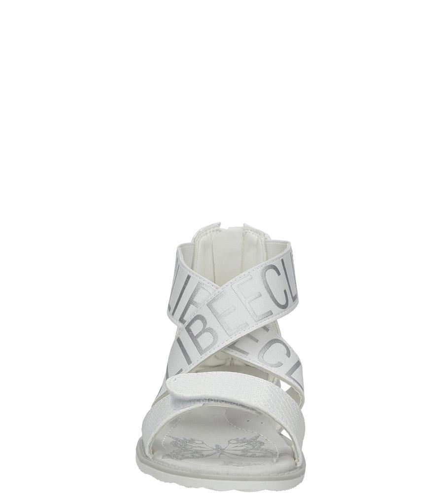 Białe sandały na rzep Casu Z-239 sezon Lato
