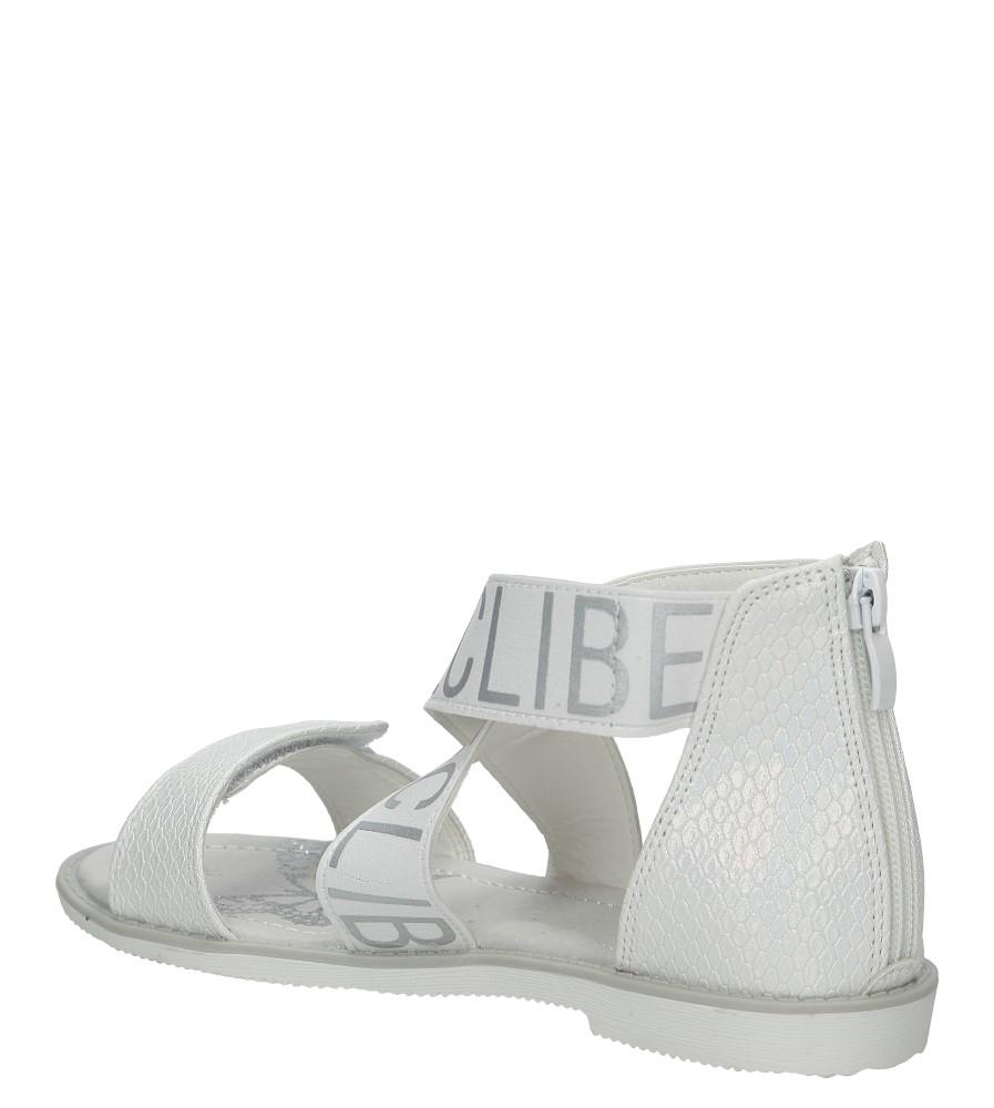 Białe sandały na rzep Casu Z-239 kolor biały