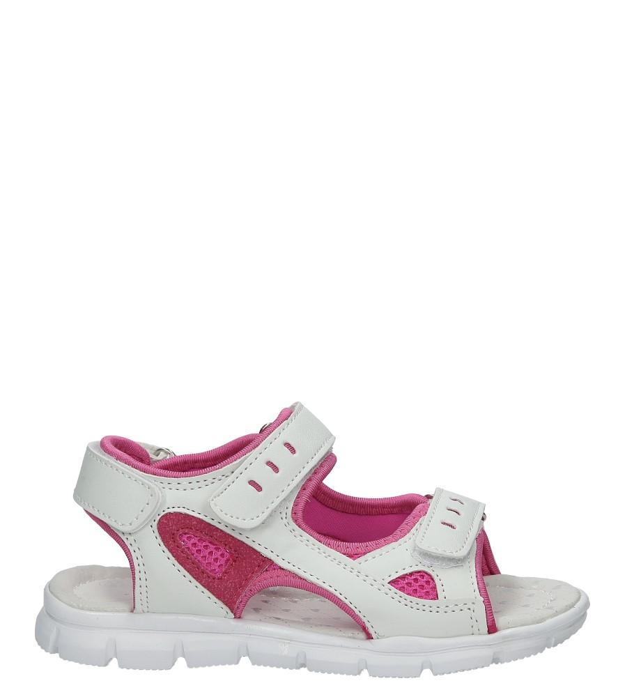 Białe sandały na rzep Casu Z-321