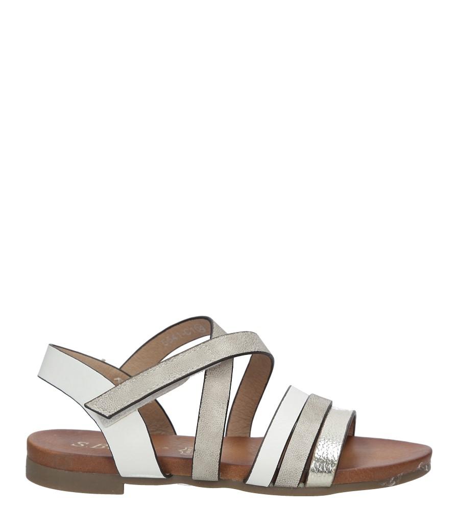 Białe sandały na rzep S.Barski 541-C1 biały