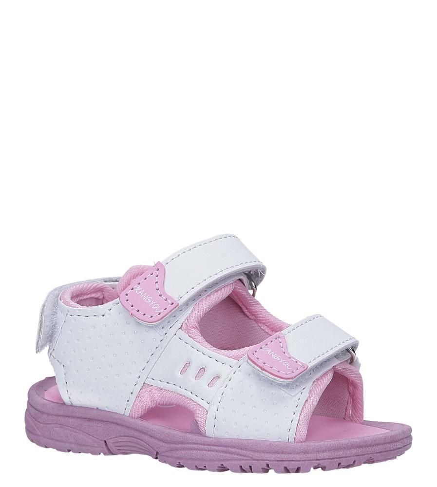 Białe sandały na rzepy  Casu 90 producent Casu