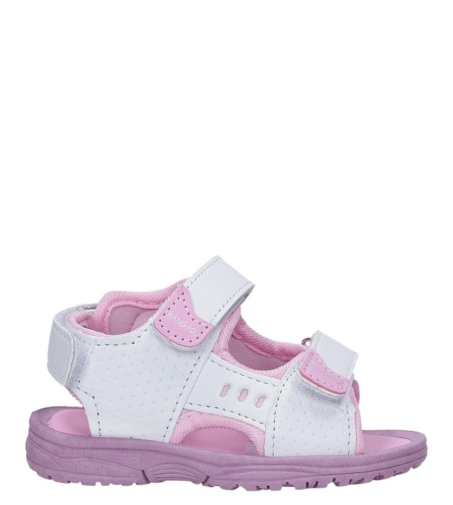 Białe sandały na rzepy  Casu 90