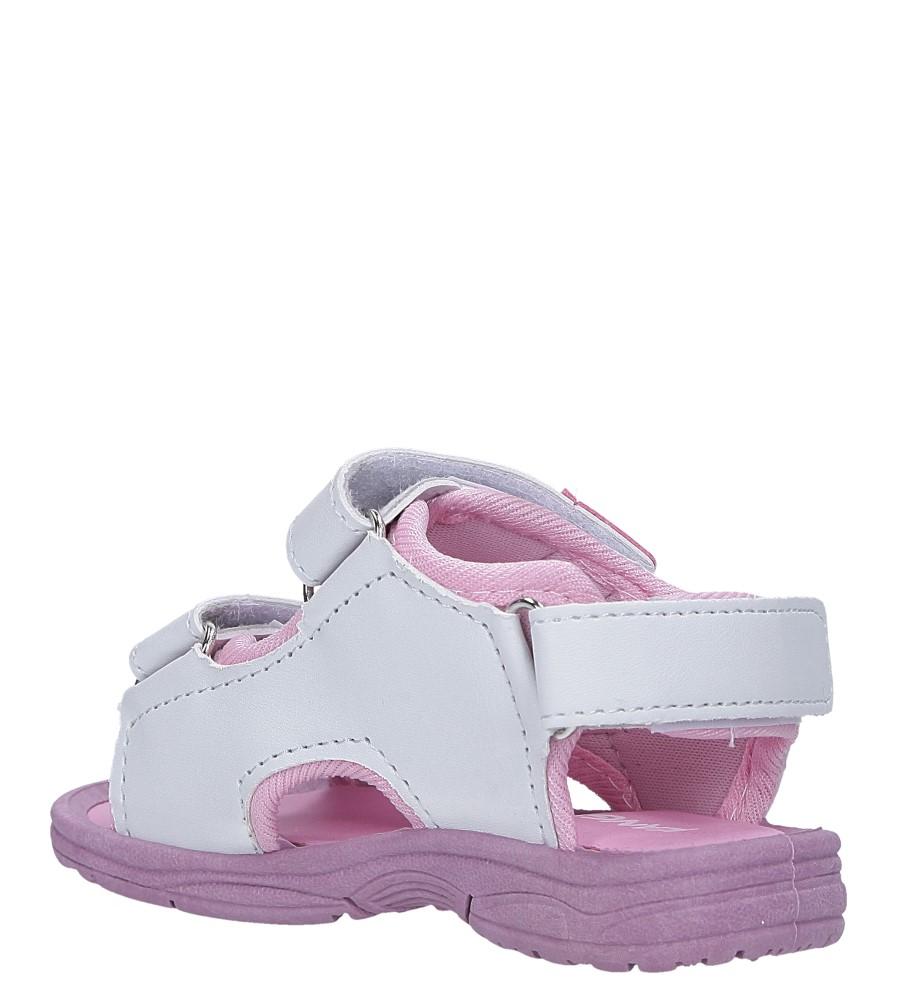 Białe sandały na rzepy  Casu 90 sezon Lato