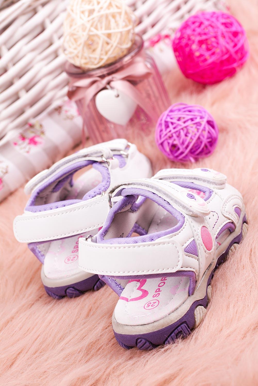 Białe sandały na rzepy Casu CS9002 biały