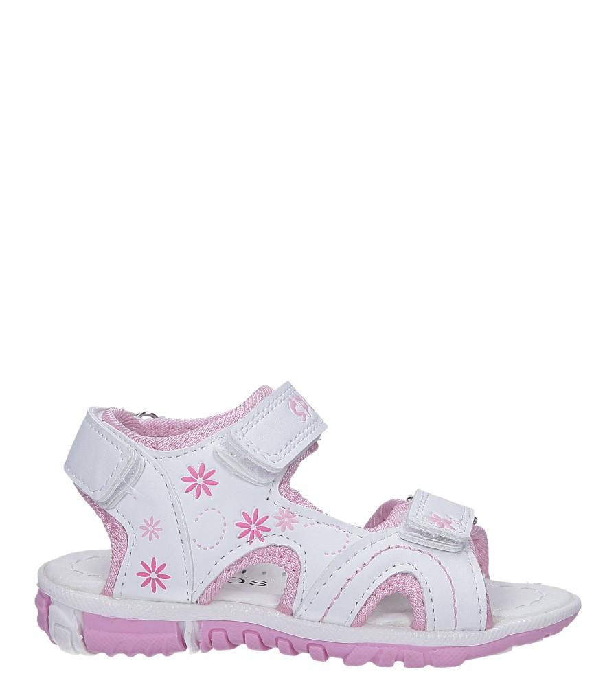 Białe sandały na rzepy Casu Y109B