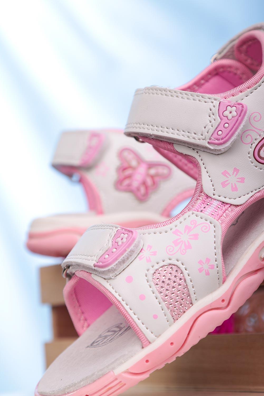 Białe sandały na rzepy ze skórzaną wkładką Casu 7014 biały