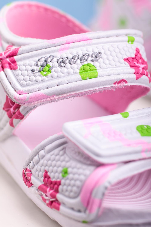 Białe sandały niemowlęce niechodki na rzepy Casu 6320 biały