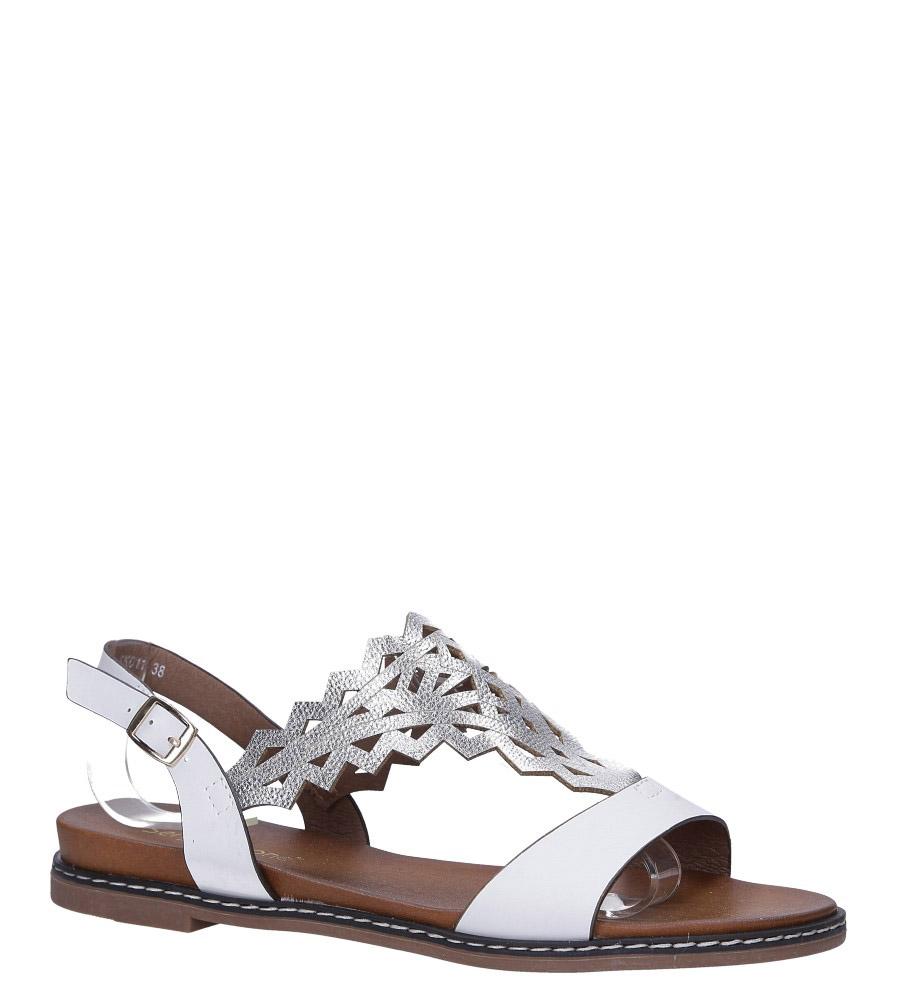 Białe sandały płaskie ażurowe Sergio Leone SK011