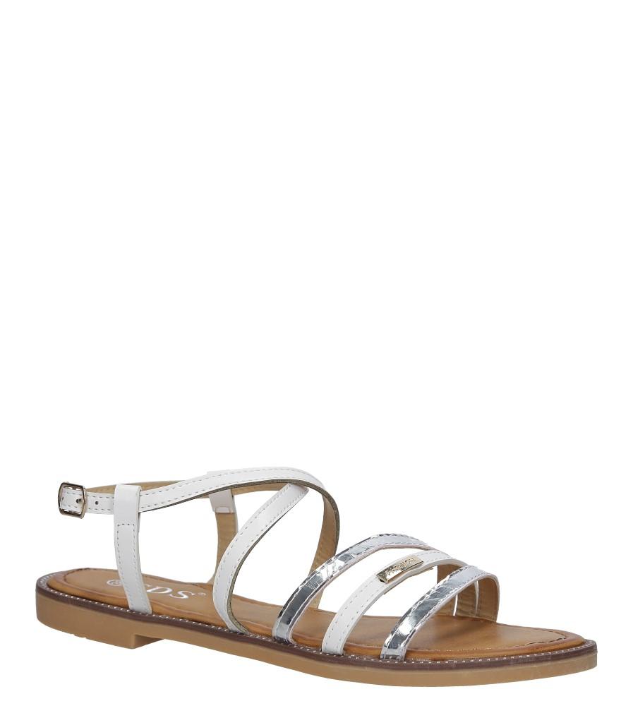 Białe sandały płaskie Casu 7198-PL biały