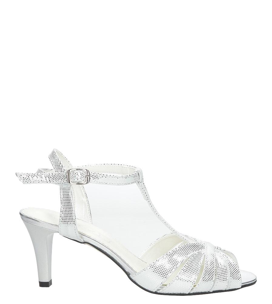 Białe sandały skórzane t-bar Casu 323