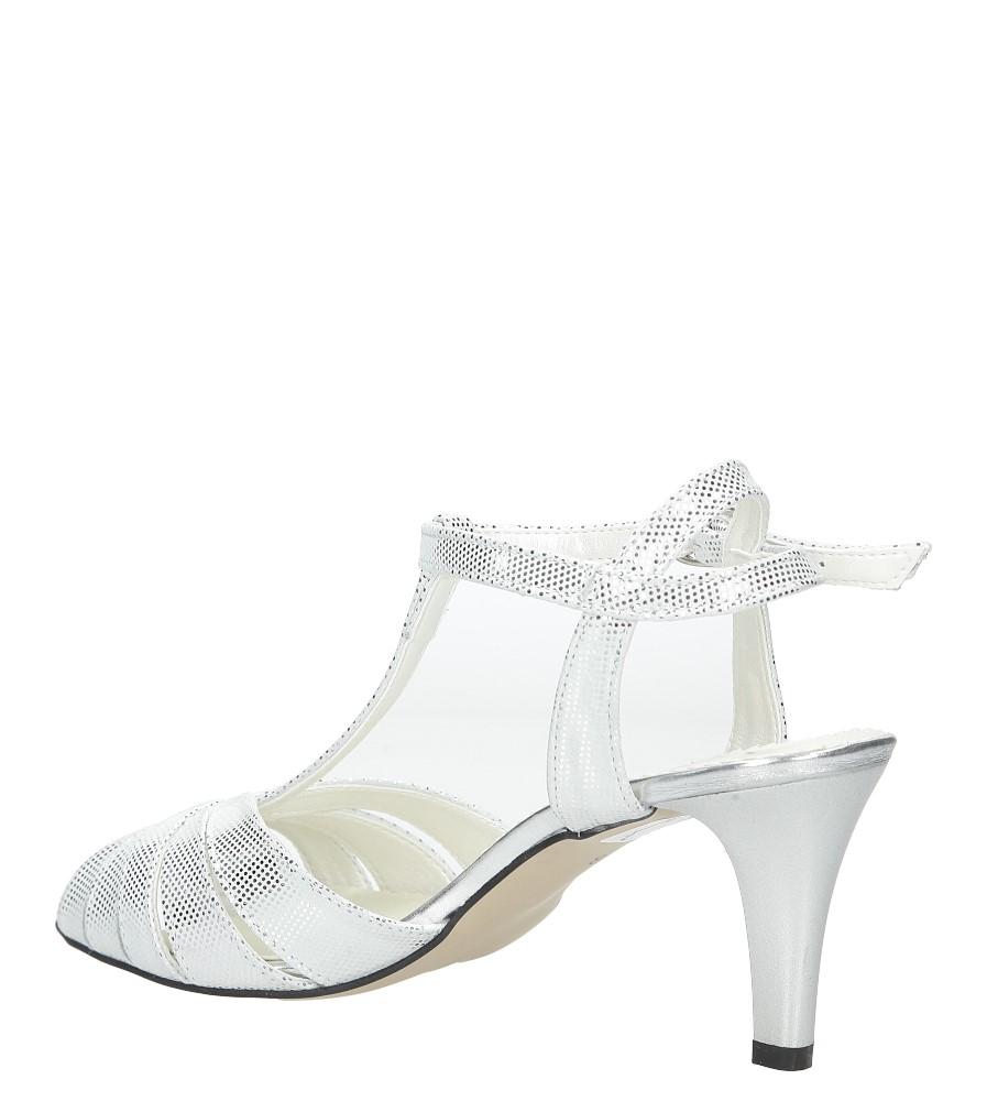 Białe sandały skórzane t-bar Casu 323 style T-bar