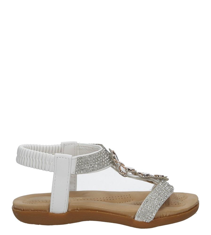Białe sandały z kryształkami Casu E22-106