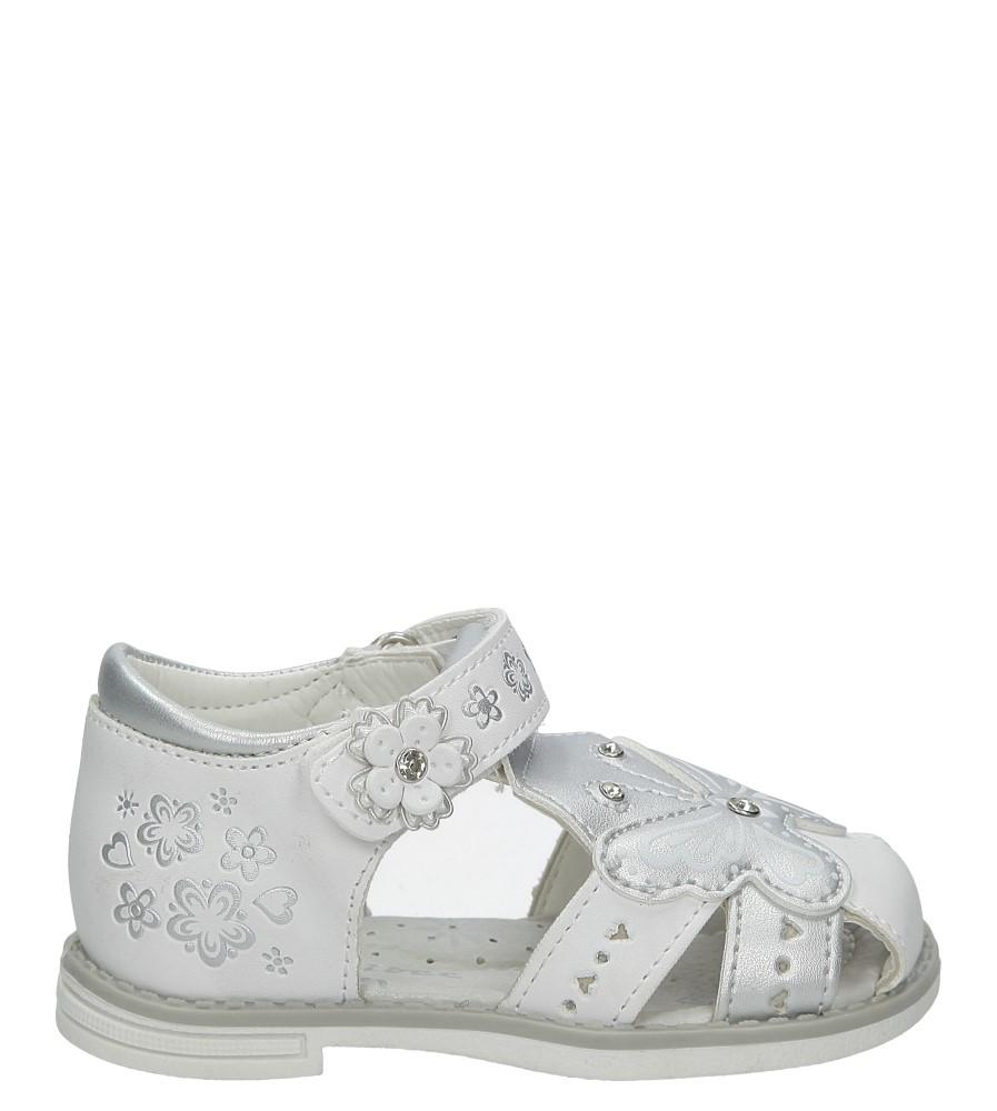 Białe sandały z motylkiem na rzep Casu Z-289