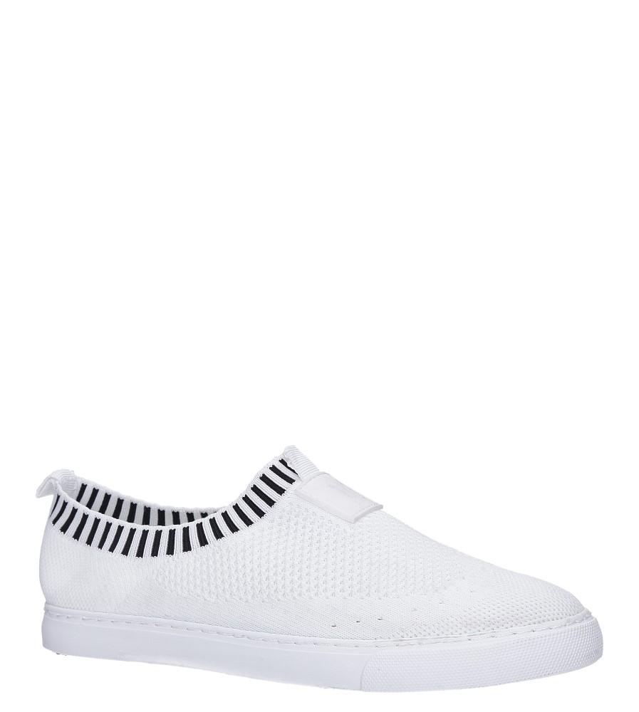 Białe skarpetkowe buty sportowe Casu XT-11
