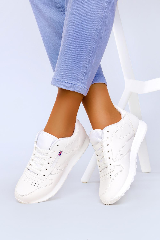 Białe sneakersy Casu buty sportowe sznurowane 1789-2 biały