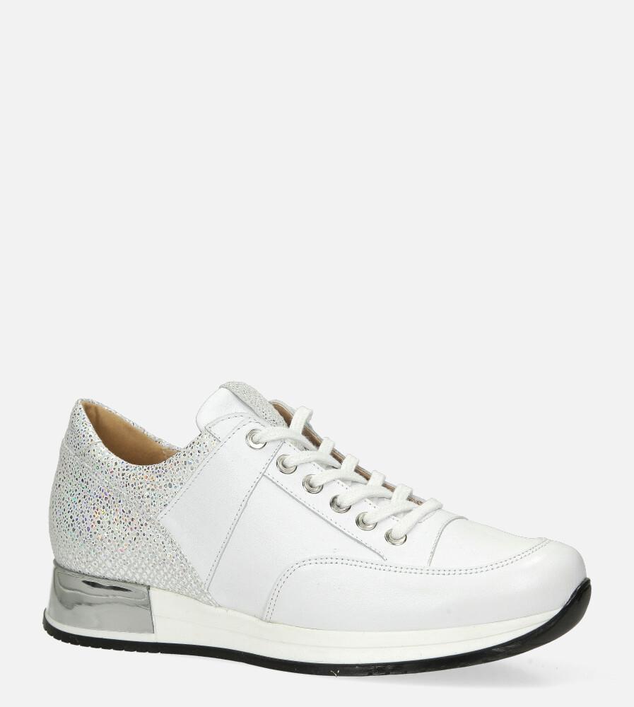 Białe sneakersy Kati buty sportowe sznurowane 7026