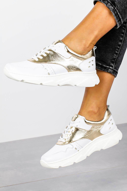 Białe sneakersy Kati buty sportowe sznurowane 7038 biały