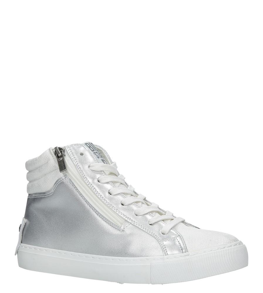 Białe sneakersy trampki sznurowane z ozdobnym suwakiem Big Star BB274727