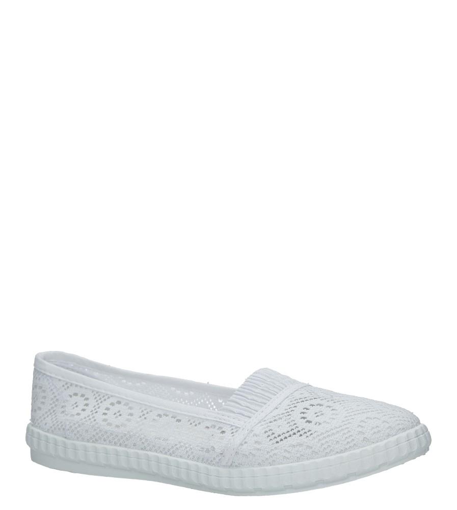 Białe tenisówki slip on ażurowe Casu 093-2