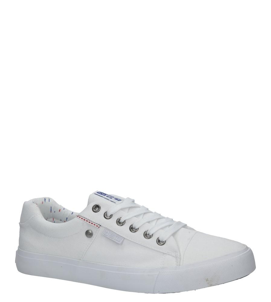 Białe trampki sznurowane Big Star AA174097A